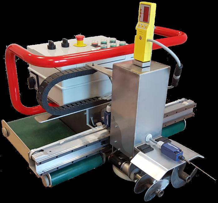 Automatický pokladač betonových podlah